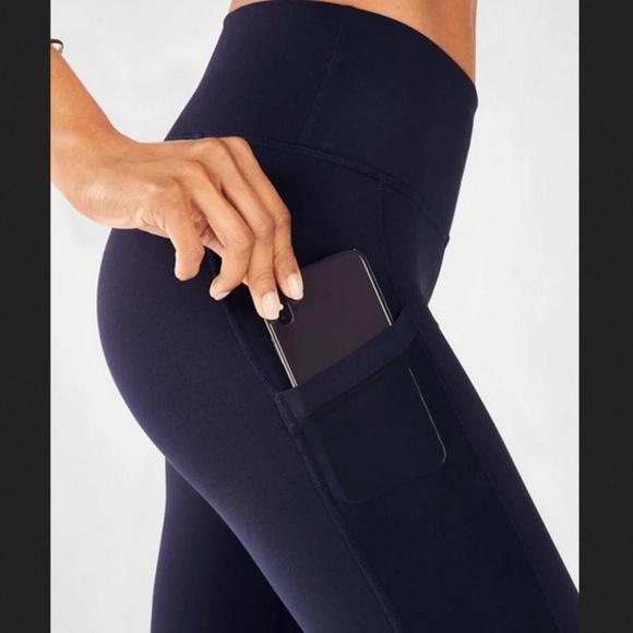 901416b818036 Fabletics Pants | Mila High Waist Pocket Abyss Blue Xl Nwt | Poshmark
